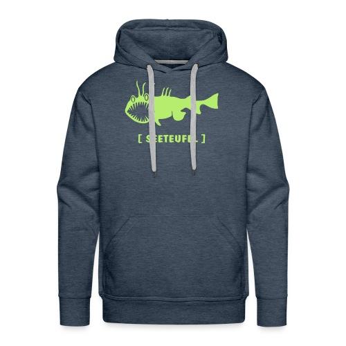 Herren Kapuzenpullover Fisch Raubfisch Seeteufel grün Tiershirt Shirt Tiermotiv - Männer Premium Hoodie