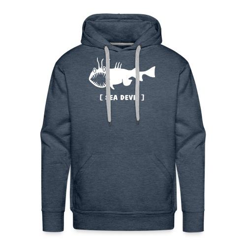 Herren Kapuzenpullover Fisch Raubfisch Seeteufel weiss Tiershirt Shirt Tiermotiv - Männer Premium Hoodie