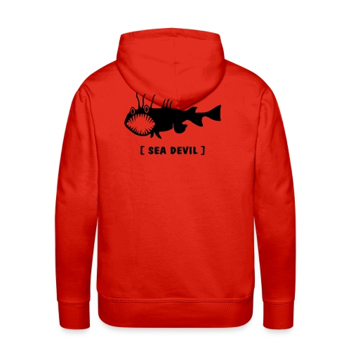Herren Kapuzenpullover Fisch Raubfisch Seeteufel Sea Devil schwarz Tiershirt Shirt Tiermotiv - Männer Premium Hoodie