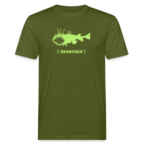 Herren Bio Shirt Fisch Raubfisch Seeteufel Sea Devil grün Tiershirt Shirt Tiermotiv - Männer Bio-T-Shirt