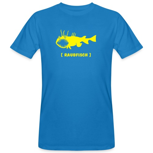 Herren Bio Shirt Fisch Raubfisch Seeteufel Sea Devil gelb Tiershirt Shirt Tiermotiv - Männer Bio-T-Shirt