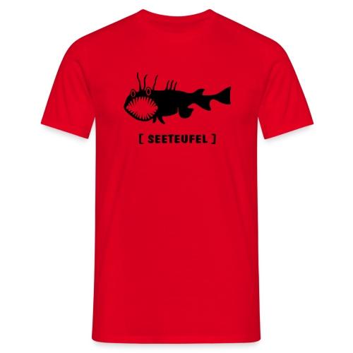 Herren Shirt Fisch Raubfisch Seeteufel Sea Devil schwarz Tiershirt Shirt Tiermotiv - Männer T-Shirt