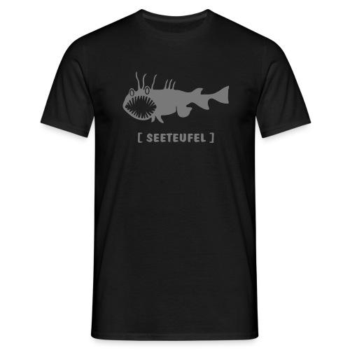 Herren Shirt Fisch Raubfisch Seeteufel Sea Devil grau Tiershirt Shirt Tiermotiv - Männer T-Shirt