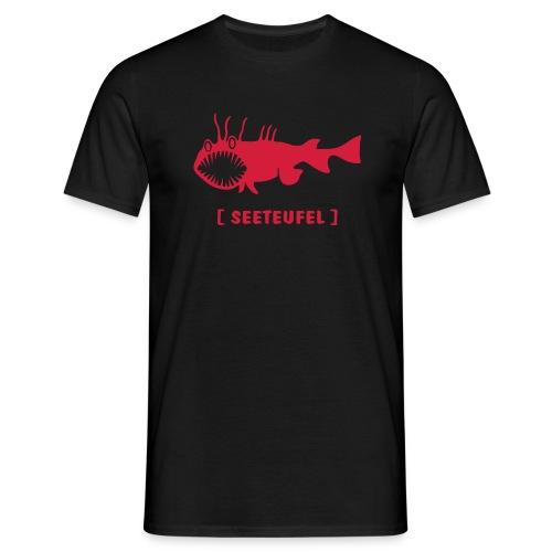 Herren Shirt Fisch Raubfisch Seeteufel Sea Devil rot Tiershirt Shirt Tiermotiv - Männer T-Shirt
