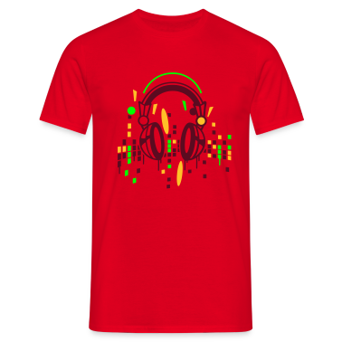 Headphones equalizer T-Shirts