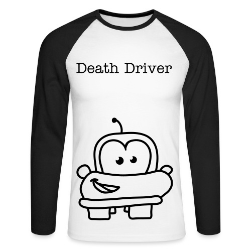 Death Driver - Langermet baseball-skjorte for menn