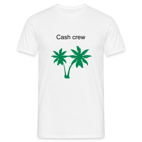 Cash crew white - Men's T-Shirt