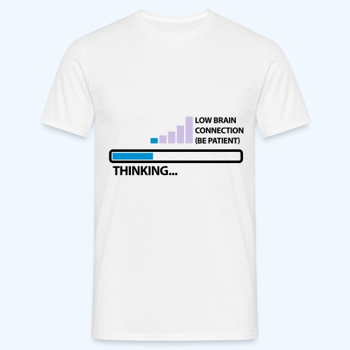 Low Brain Connection Thinking in White - Men's T-Shirt