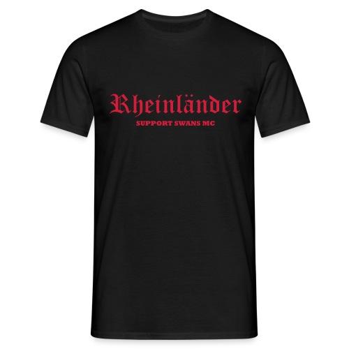 Männer T-Shirt klassisch schwarz rot - Männer T-Shirt