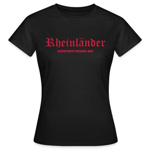 Frauen T-Shirt klassisch, schwarz rot - Frauen T-Shirt