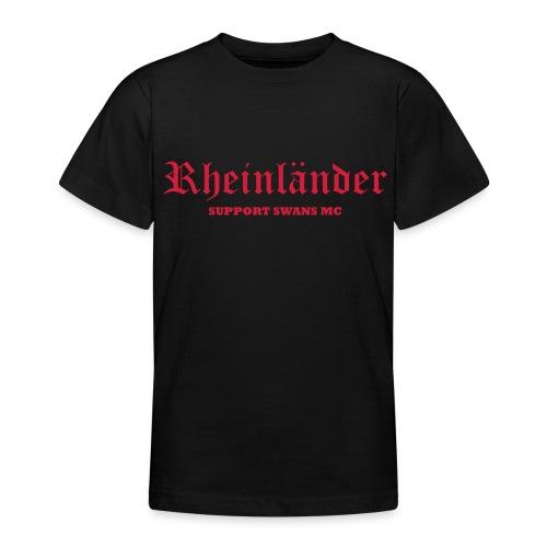 Kinder T-Shirt klassisch, schwarz rot - Teenager T-Shirt