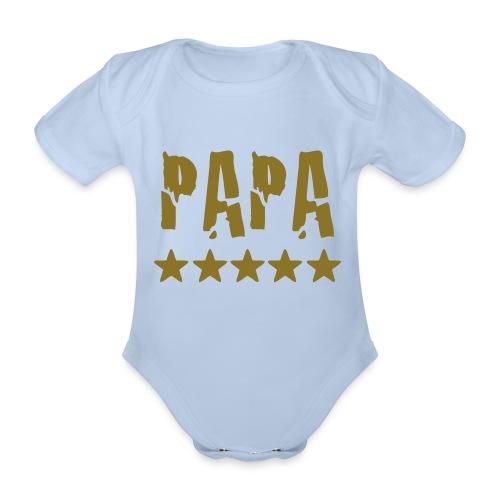 Baby Body Papa Roze - Baby bio-rompertje met korte mouwen