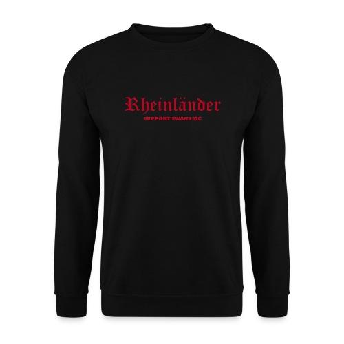 Männer Pullover, schwarz rot - Männer Pullover