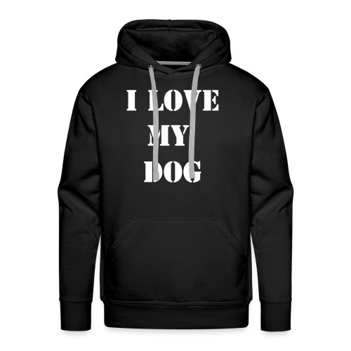 I LOVE MY DOG - PUNISH THE DEED - NOT THE BREED! - Herre Premium hættetrøje