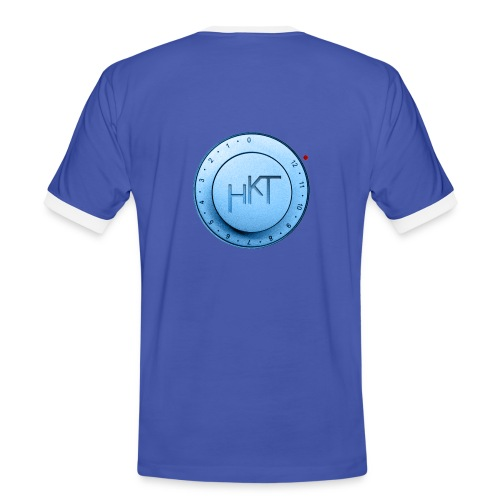 Kontrast-Shirt blau mit Logo - Männer Kontrast-T-Shirt
