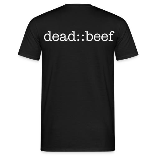 dead:beef:: (Back) - Men's T-Shirt