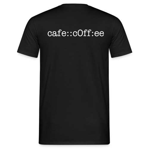 cafe::c0ff:ee (Back) - Men's T-Shirt