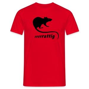 Herren Shirt rattig Ratte Maus Nager Nagetier Tiershirt Shirt Tiermotiv - Männer T-Shirt