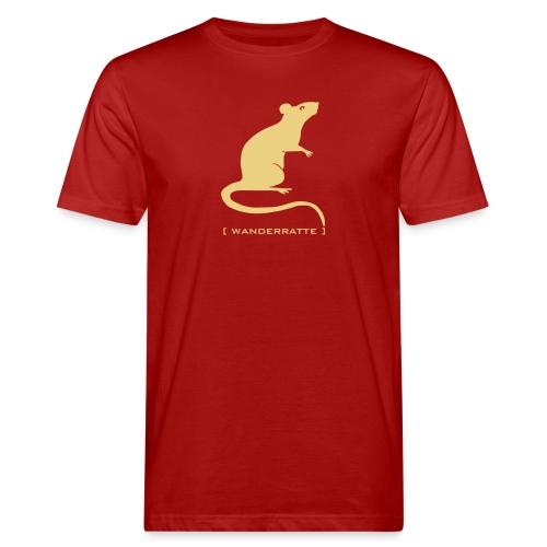 Männer Bio Shirt  Ratte Maus Nager Wanderratte Tiershirt Shirt Tiermotiv - Männer Bio-T-Shirt