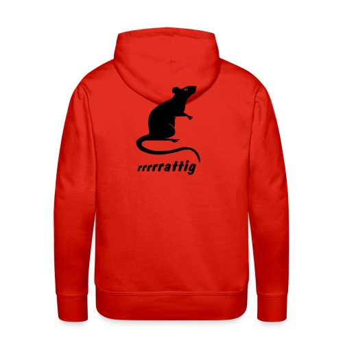 Männer Kapuzenpulli rattig Ratte Maus Nager Wanderratte Tiershirt Shirt Tiermotiv - Männer Premium Hoodie