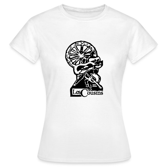 Les Cousins Ladies T-shirt (Black logo)