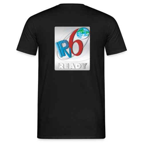 IPv6 Ready Silver (Back) - Men's T-Shirt