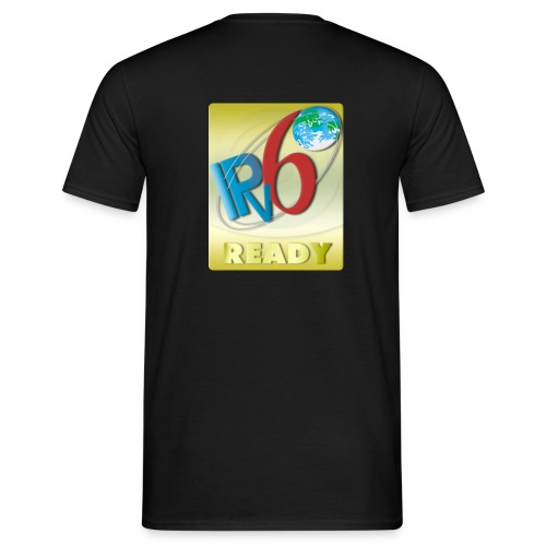 IPv6 Ready Gold (Back) - Men's T-Shirt