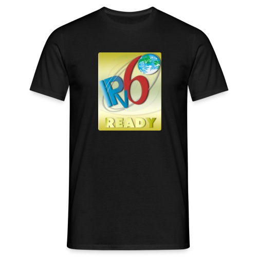 IPv6 Ready Gold (Front) - Men's T-Shirt