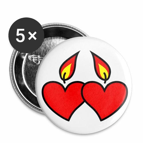 I LOVE YOU - Herz Heart Button Anstecker - Buttons mittel 32 mm