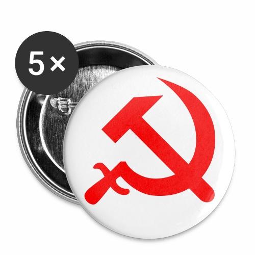 Hammer + Sichel / Serp + Molot Sowjetunion Button Anstecker - Buttons mittel 32 mm