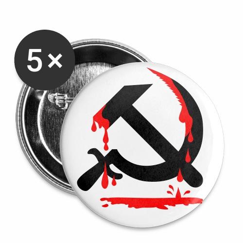 Hammer + Sichel + Blut + CCCP / Serp + Molot Sowjetunion Button Anstecker - Buttons groß 56 mm