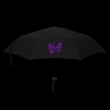 A butterfly graffiti Umbrellas