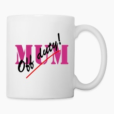 Off Duty Mum Neon Mug