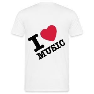 i live music shirt - Mannen T-shirt