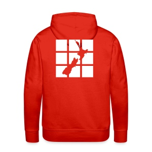 Red Hoodie with NZ Design on the back - Men's Premium Hoodie