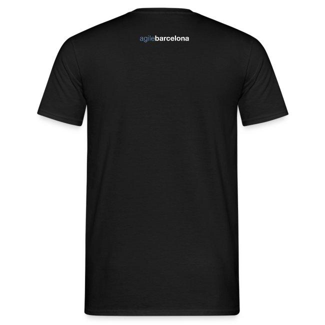 Camiseta basic hombre (font + back)
