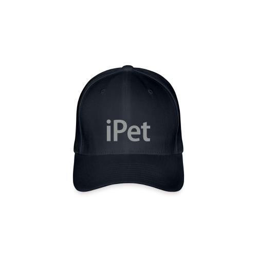 iPet Zwart met witte lijntjes en met grijze opdruk - Flexfit baseballcap