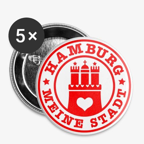 HAMBURG MEINE STADT Wappen Herz HH Anstecker / Button - Buttons groß 56 mm