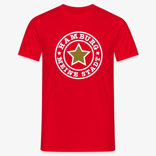 HAMBURG MEINE STADT + Stern Männer T-Shirt rot + alle Farben - Männer T-Shirt