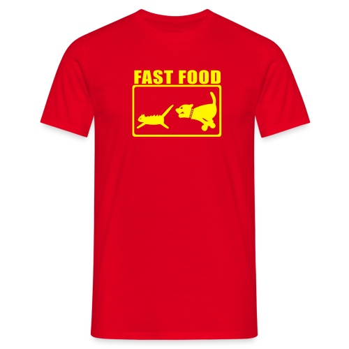 T-shirt fast food rouge - T-shirt Homme