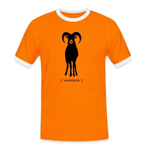 Herren Kontrastshirt Widder Muffel Schaf Wildschaf Muffelwild Tiershirt Shirt Tiermotiv - Männer Kontrast-T-Shirt