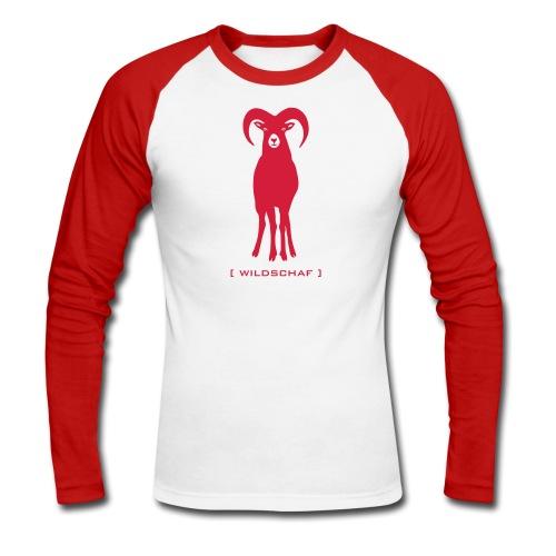 Herren Langarmshirt Widder Muffel Schaf Wildschaf Muffelwild Tiershirt Shirt Tiermotiv - Männer Baseballshirt langarm