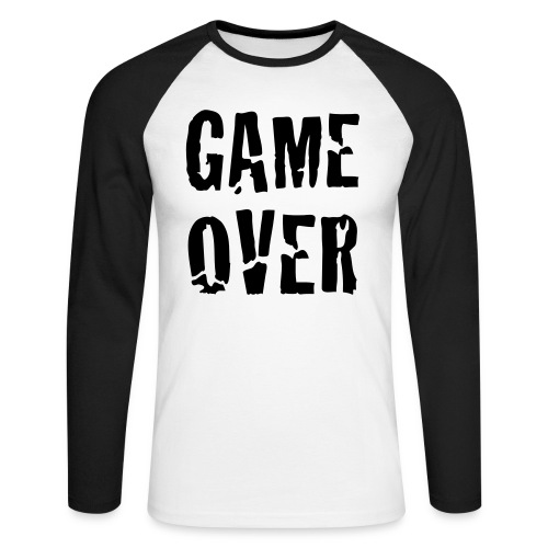 game over - Langermet baseball-skjorte for menn