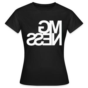 MGness Black White female - Frauen T-Shirt