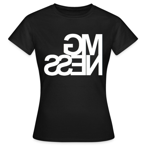 MGness Black White female - Frauen T-Shirt