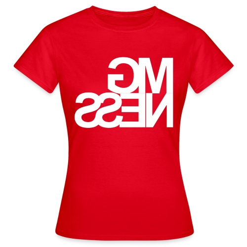 MGness Red White female - Frauen T-Shirt