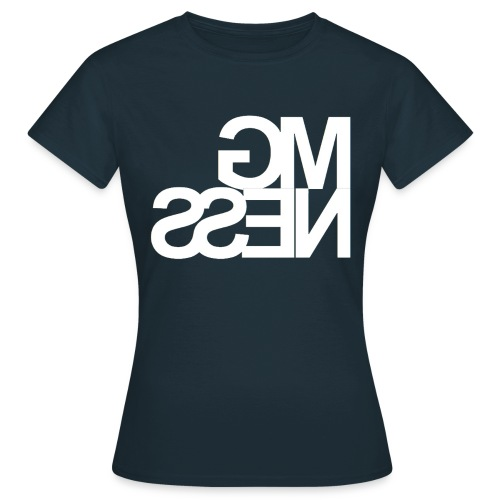 MGness Navy White female - Frauen T-Shirt