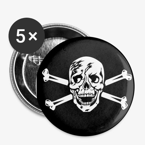 Totenkopf / Skull Anstecker / Button - Buttons groß 56 mm