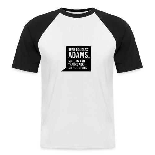 Hitchhiker - black & white tee - Men's Baseball T-Shirt