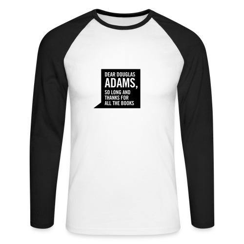 Hitchhiker - black & white long sleeve - Men's Long Sleeve Baseball T-Shirt